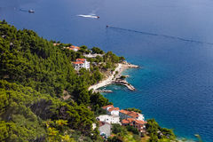 Beautiful coastline makarska riviera Stock Image