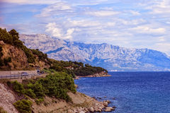 Beautiful coastline Makarska Riviera Royalty Free Stock Photos
