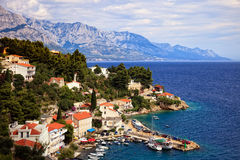 Beautiful coastline Makarska Riviera Royalty Free Stock Images