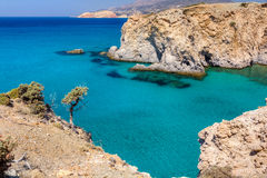 Beautiful coastline, Milos island, Greece Royalty Free Stock Images