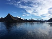 The beautiful coastline in Northern Norway. Stock Images