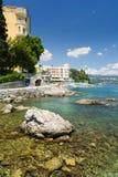 Beautiful coastline in Opatija, Kvarner, Croatia Stock Images