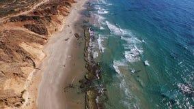 Beautiful coastline, travel to the lazur sea stock video footage