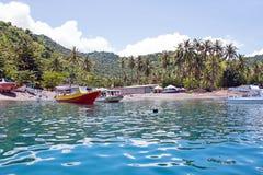 Beautiful coastline at tropical Gili Trawangan in Indonesia. Asia Royalty Free Stock Photos