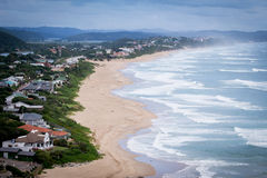 Beautiful coastline view. Wilderness beach waves and coastline view Stock Image