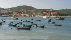 Beautiful coastline of Weihai Stock Images