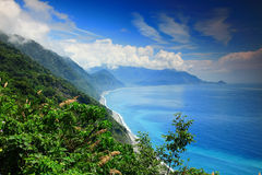 Beautiful Coastline in Yilan, Taiwan Royalty Free Stock Image