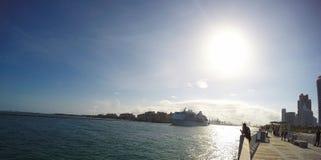 Beautiful coasts of miami beach royalty free stock photography