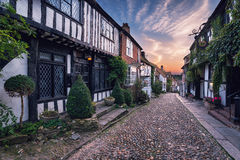 Beautiful Cobbled Street Royalty Free Stock Photo
