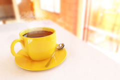 Beautiful Coffee Cup. In the Morning Stock Images