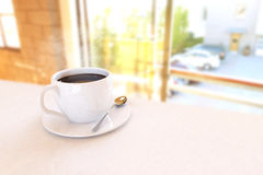 Beautiful Coffee Cup. In the Morning Royalty Free Stock Photos