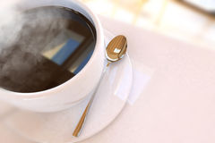 Beautiful Coffee Cup. In the Morning Stock Photography