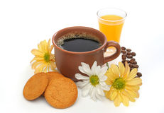 A beautiful coffee scene Stock Images