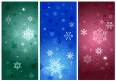 Beautiful cold crystal gradient snowflakes Stock Image
