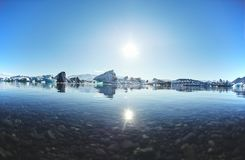 Beautiful cold landscape picture of icelandic glacier lagoon bay, Royalty Free Stock Photo