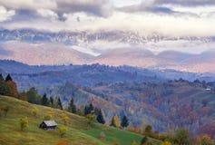 Beautiful cold morning. At Moeciu de Jos, Romania Royalty Free Stock Photo