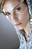 Beautiful cold winter women. Portrait of a beautiful cold winter women Royalty Free Stock Photography