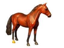 Figure of a horse. Isolated on white. Stock Photography