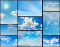 Beautiful collection of clouds in the blue sky. Royalty Free Stock Photo