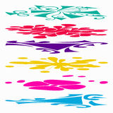 Beautiful collection of colored lines Graffiti symbols vector illustration Stock Photography