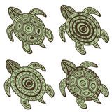 Collection of decorative turtles Stock Photo