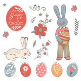 Beautiful collection of Easter related graphic elements Royalty Free Stock Photo