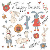 Beautiful collection of Easter related graphic elements Stock Photo