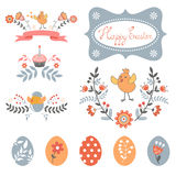 Beautiful collection of Easter related graphic elements Royalty Free Stock Photography