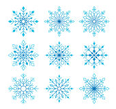 Beautiful Collection of Snow Flakes  in White Stock Image