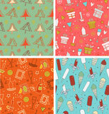 Beautiful collection of winter patterns Royalty Free Stock Photos