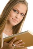 Beautiful college girl Stock Photo