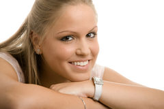 Beautiful college girl Stock Photos