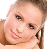 Beautiful college girl Royalty Free Stock Photography