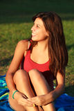 Beautiful college girl Royalty Free Stock Photo