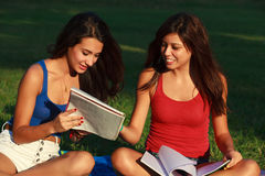 Beautiful college girls Stock Image