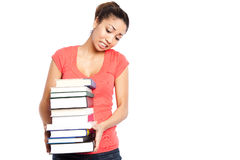 Beautiful college student Stock Images