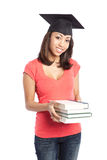 Beautiful college student Royalty Free Stock Photos