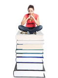 Beautiful college student Royalty Free Stock Image