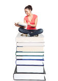 Beautiful college student Royalty Free Stock Images