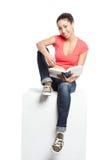 Beautiful college student Stock Image