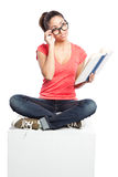 Beautiful college student Royalty Free Stock Photography