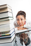 Beautiful college student Stock Photo