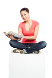 Beautiful college student Royalty Free Stock Photo