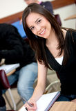 Beautiful college student Stock Photography