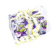 Beautiful coloful gift box with bows Stock Photos