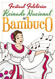 Beautiful Colombian Queen for Folkloric Festival and Bambuco Pageant, Vector Illustration Stock Photo