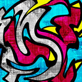 Beautiful color abstract pattern vector illustration of graffiti Royalty Free Stock Photography