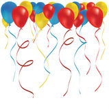 Beautiful color balloon in the air. Stock Image