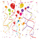 Beautiful color balloon in the air. Stock Photos