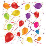 Beautiful color balloon in the air. Vector Royalty Free Stock Image